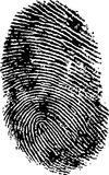 FingerPrint 1. Black and White Vector Fingerprint - Very accurately scanned and traced ( Vector is transparent so it can be overlaid on other images, vectors etc Royalty Free Stock Photo