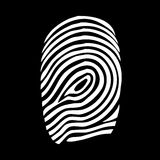Fingerprint. Illustration of a fingerprint on black background Royalty Free Stock Photo