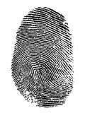 Fingerprint. Thumb print on white background vector illustration