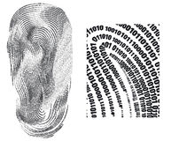 Fingerprint. Digital finger print - web signature - vector Royalty Free Stock Image
