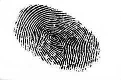 Fingerprint. Black in k fingerprint on white background Royalty Free Stock Photo
