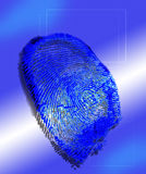 Fingerprint. As used in technology for security purposes royalty free illustration