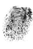 Fingerprint 2. Ink fingerprint - conceptual for identity Royalty Free Stock Photo