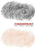 Fingerprint. Illustration on white background Stock Photos