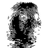 Fingerprint. Representation of a fingerprint in vectorial shape over white background Stock Images
