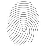 Fingerprint. Very simple fingerprint with lines Stock Image