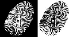Fingerprint. Black and white finger print background Royalty Free Stock Images