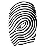 Fingerprint. A  computer generated image Royalty Free Stock Images