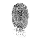 Fingerprint. Very detailed fingerprint, isolated on white background jpg, or EPS vector. Size and color can be changed Stock Images