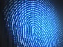 fingerprint ilustración del vector