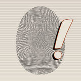 fingerprint Fotografia de Stock Royalty Free