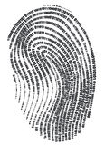 Fingerprint. Digital finger print - web signature Stock Photo