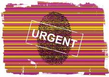 Fingerprint. Hi Detail  fingerprint in colours background Stock Photo