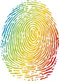 Fingerprint. In many rainbow colors Royalty Free Stock Photo