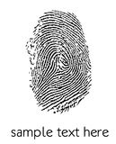 Fingerprint. White fingerprint on red background Royalty Free Stock Photography
