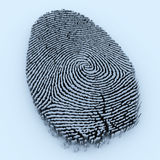 Fingerprint. 3d render of a fingerprint Royalty Free Stock Images