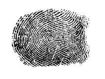An fingerprint. In a white paper Royalty Free Stock Images