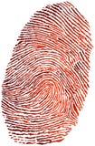 Fingerprint. Red gradient Fingerprint on the white background Stock Photos