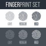 fingerprint Fotografia Stock Libera da Diritti