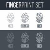 fingerprint Imágenes de archivo libres de regalías
