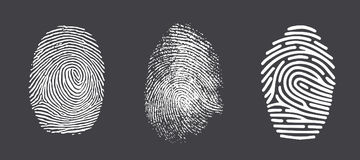 fingerprint Fotografía de archivo