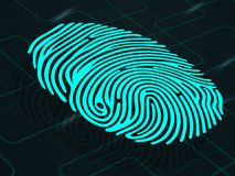 Fingerprint on abstract background Royalty Free Stock Photos