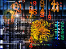 Fingerprint Access Royalty Free Stock Photos