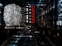 Fingerprint Access Royalty Free Stock Photography