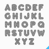 Fingerprint alphabet letters. Set of fingerprint alphabet letters Stock Image