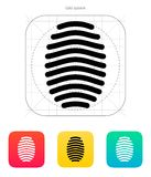Fingerprint arch type icon. Vector illustration Stock Image