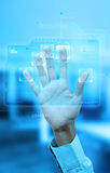 Fingerprint authentication Stock Images