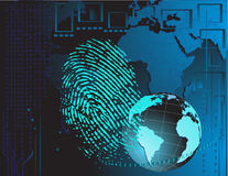 Fingerprint background Royalty Free Stock Image
