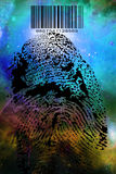 Fingerprint Barcode. High Resolution Illustration Fingerprint Barcode Royalty Free Stock Photos