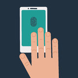 Fingerprint biometric identification Stock Images