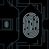 Fingerprint biometric identification Royalty Free Stock Photos