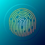 Fingerprint button. Vector illustration. royalty free illustration