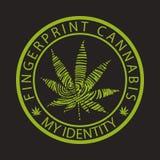 Fingerprint cannabis-marijuana Stock Images