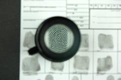 Fingerprint card Royalty Free Stock Photo