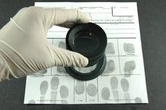 Fingerprint card Royalty Free Stock Photos
