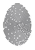 Fingerprint. Closeup of a fingerprint used to secure identification Stock Images