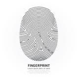 Fingerprint Color Vector Design Illustration. Stock Images