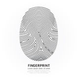Fingerprint color vector design illustration. Stock Images