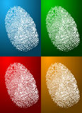 Fingerprint Colors Stock Photography