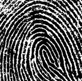 FingerPrint Crop 8. Black and White Vector Fingerprint Crop - Very accurately scanned and traced ( Vector is transparent so it can be overlaid on other images, s Royalty Free Stock Images