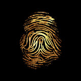 Fingerprint dactylogram gold Stock Photos