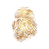 Fingerprint dactylogram gold Royalty Free Stock Photos