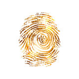 Fingerprint dactylogram gold Stock Image