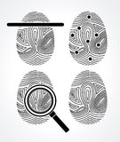 FingerPrint desi Stock Photography