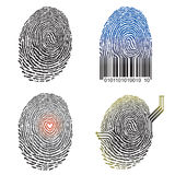 Fingerprint design. Vector illustration of Fingerprint concept Stock Photo