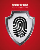 Fingerprint design. Fingerprint graphic design , vector illustration Royalty Free Stock Photo